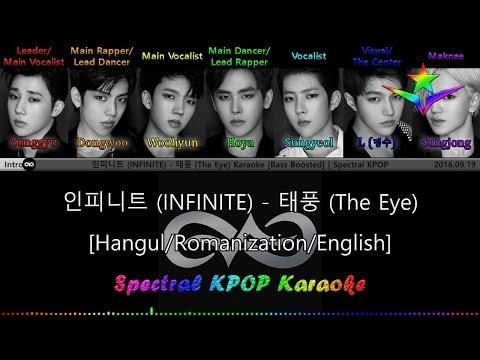 인피니트 (INFINITE) - 태풍 (The Eye) Karaoke/Instrumental [Han|Rom|Eng] Lyrics | Spectral KPOP