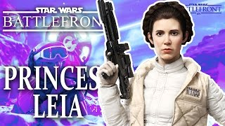 Star Wars Battlefront: Princess Leia Organa Gameplay and Skills (Hoth)