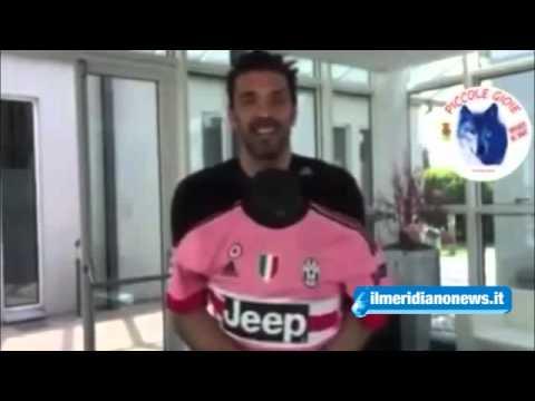 I videomessaggi di Buffon e Chiellini per Mariarca