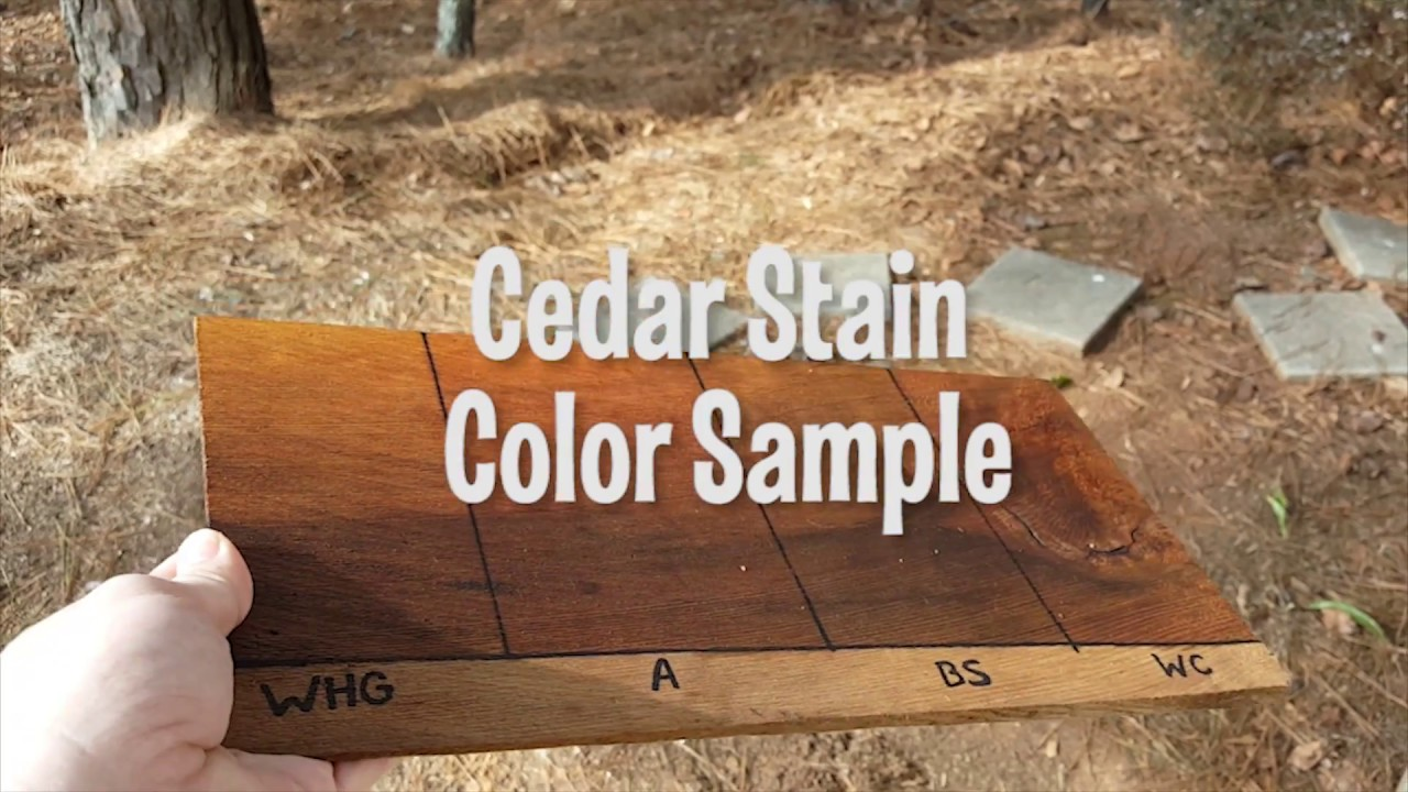 Cedar Shake Shingle Stain Sample