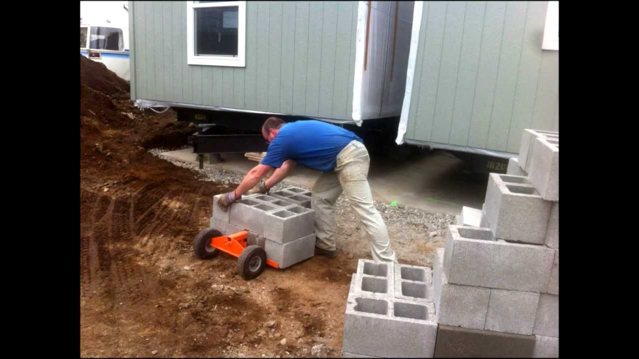 Mobile Home Re Leveling Using The Duraskirt Retrofit Cart