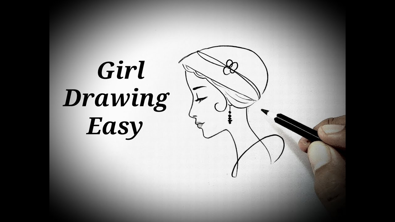 How To Draw A Girl Easy Side Face View Sketch Easy Girl Drawing