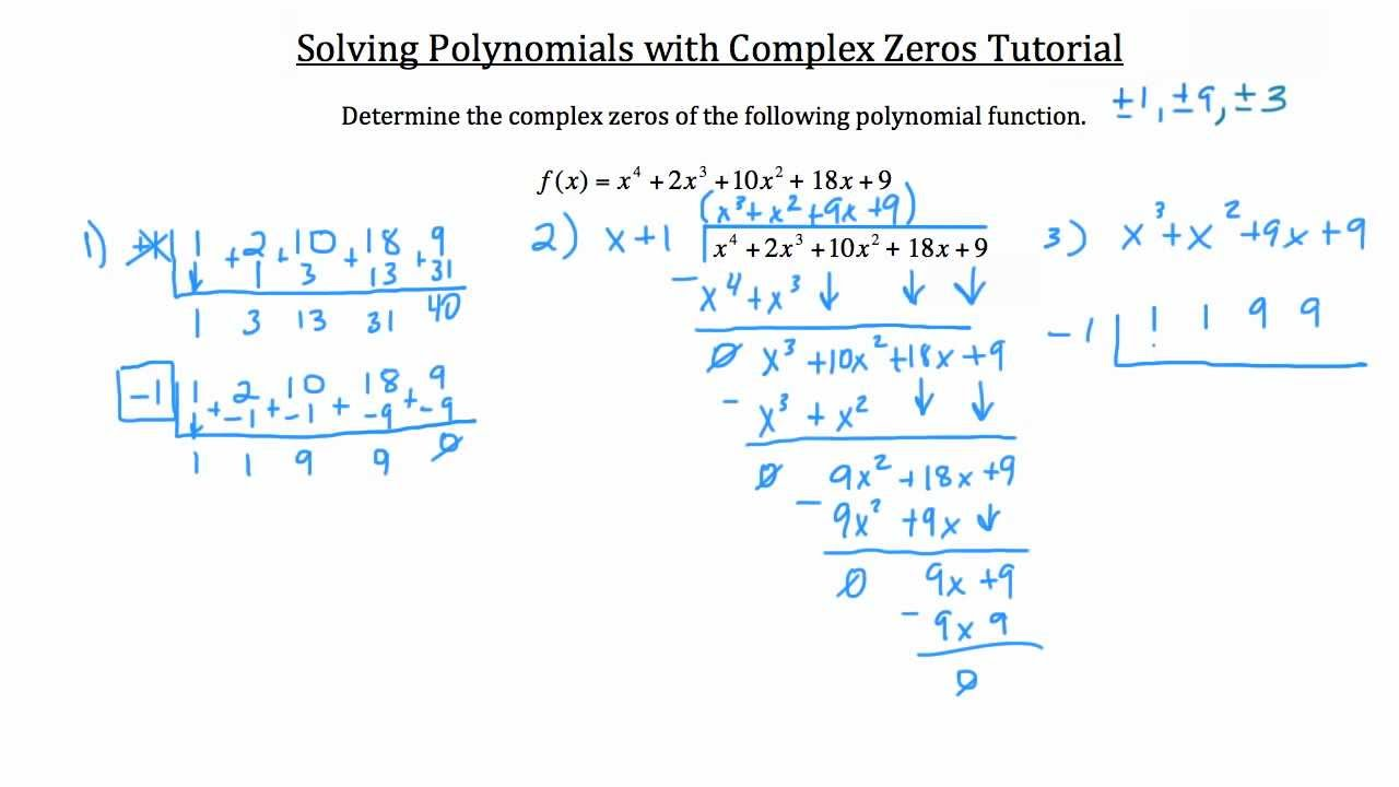 Real Andplex Polynomial Roots