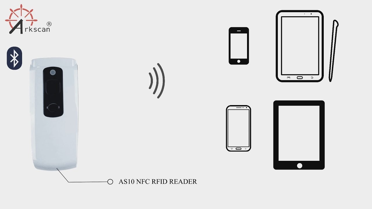 How to Connect Bluetooth NFC RFID Reader to Smartphone & Tablet for iOS &  Android Wireless Interface