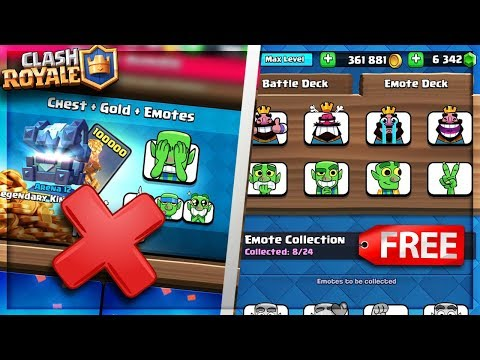 """WARNING!"" DO NOT BUY THE NEW EMOTES in Clash Royale! (GET THEM FOR FREE)"