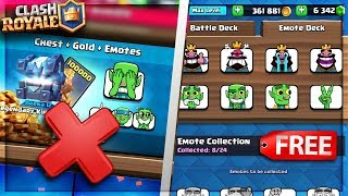 """""""warning"""" do not buy the new emotes in clash royale get them for free"""