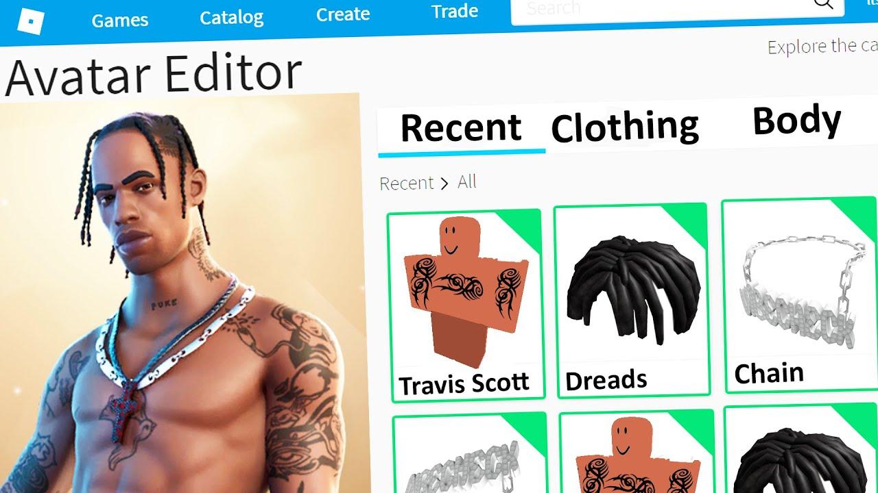 Making Travis Scott A Roblox Account Youtube