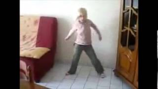 Young White Girl Dances to African Music - HQ Sound