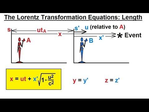 Physics - Special Relativity (20 of 43) The Lorentz Transformation Equations: Length