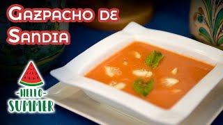Gazpacho de Sandia Receta de Verano Refrescante