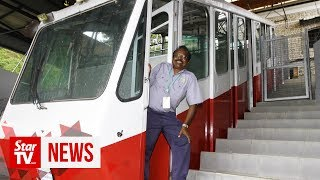 One last trip as Penang Hill train conductor