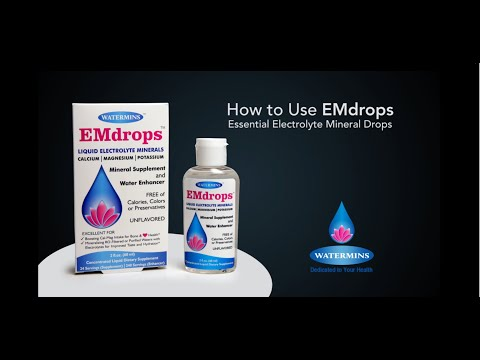How To Use EMDROPS - Electrolyte Water Enhancer And Liquid Calcium Magnesium Mineral Supplement