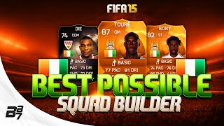 fifa 15   best possible ivory coast squad builder w motm yaya toure and if die