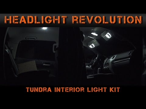 2014-2017 Toyota Tundra Interior Lights - Tundra Video Series (4) | Headlight Revolution