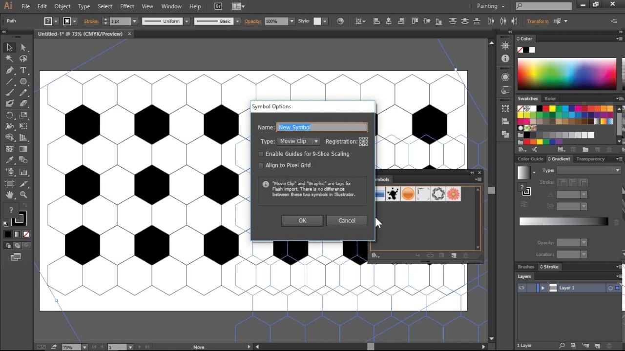 Bài 13. Vẽ quả bóng đá bằng kỹ thuật sử dụng Symbol bằng Adobe Illustrator CC