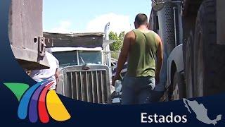 Desde el viernes  se manifiestán transportistas   Noticias de Chihuahua