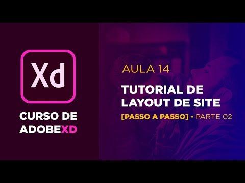 Curso de Adobe XD - Tutorial de site  - Parte 01 [Aula 14] thumbnail