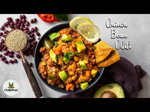 ONE POT Vegan Quinoa Bean chili recipe | Dump and go recipes | OPOS | Slow cooker recipe