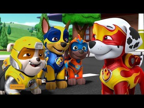 Рисование для детей Щенячий патруль Могучие щенки Зума, Эверест, Гонщик и Маршал