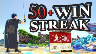 I GOT 50+ WINS IN A ROW WITH MARTH ON ELITE SMASH!