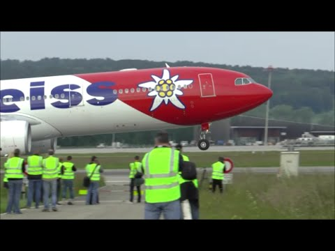 [HD MOVIE] Airside spotting with great evening traffic at Zurich Airport - 23/05/2015