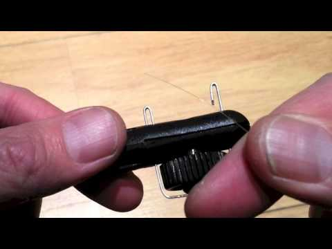 How to tie a spade end hook using Matchman Hook Tyer