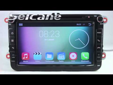 Android 4.4 Touch Screen 2009 2010 2011 VW Passat B6 GPS Navigation 2 Din Radio DVD Bluetooth Stereo