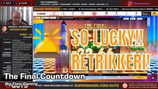 The Final Countdown! MEGA Lucky retrigger! BOOM
