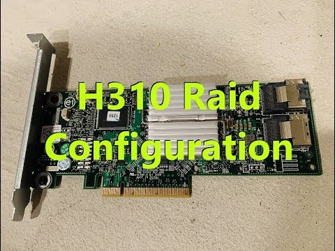 How to Configure Raid 1 with Dell Perc H310 Controller
