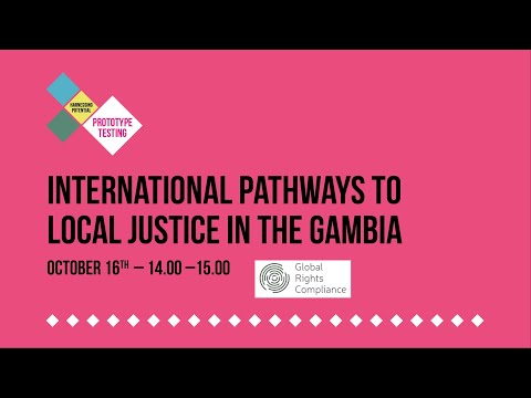 KPAC20: 'International Pathways to Local Justice in The Gambia' with Global Rights Compliance