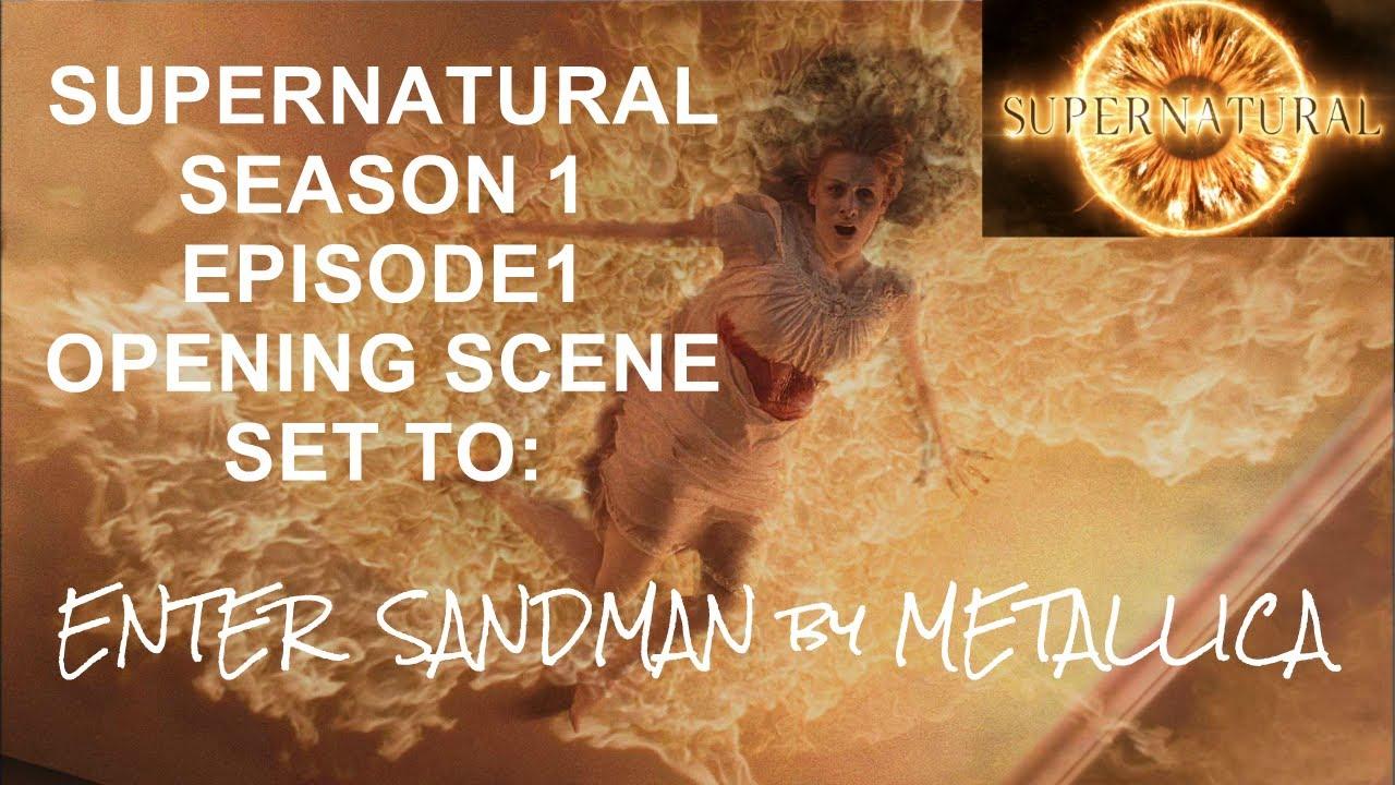 Download Supernatural Season 1 Episode 1 opening scene set to Metallica's Enter Sandman.