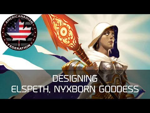 Designing Elspeth, Nyxborn Goddess - Custom Magic Card!