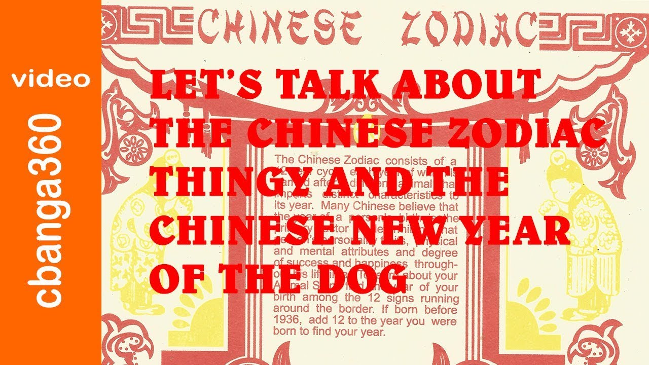 lets talk about the chinese zodiac