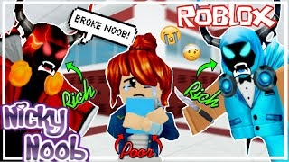 THE RICH KIDS BULLIED ME FOR BEING POOR 😭 | Nicky Noob S1 E1 | Roblox Sad Story