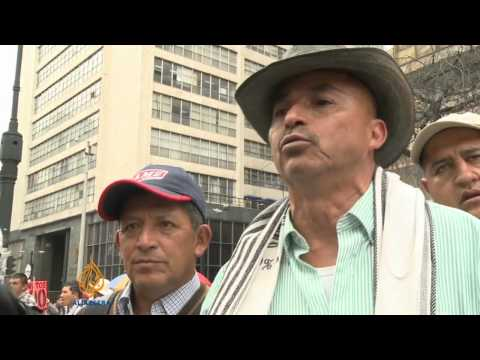 Colombian farmers rise up against government