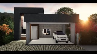 Casa De 141 m2 em Terreno 10x20 - Passeio Virtual + Planta Humanizada