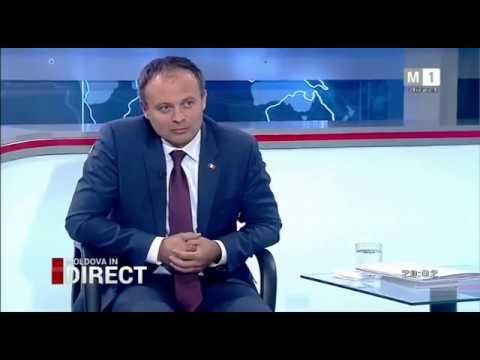 Dezbaterea dintre Andrian Candu și Maia Sandu. în direct  la Moldova1