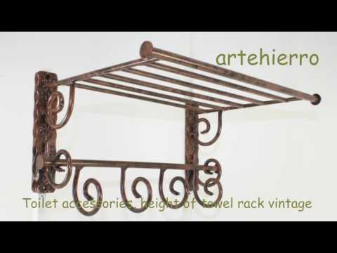 Toilet accessories, height of towel rack vintage with style