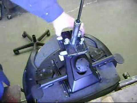 office chair repair parts plastic steel legs teknion gas cylinder youtube