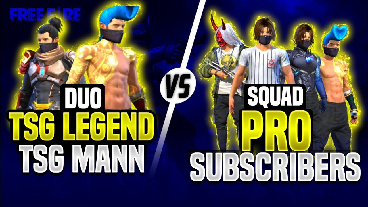 TSG LEGEND & MANN DUO VS SQUAD PRO SUBSCRIBER'S || MUST WATCH || SUBSCRIBER'S DEFEATED US??
