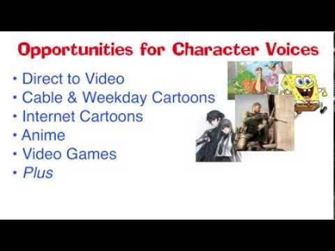 Classes For Animation Voice Over Jobs