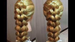 Французская коса на резинках из 5 прядей | Самый быстрый способ