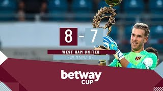 BETWAY CUP HIGHLIGHTS: WEST HAM DEFEAT MAINZ ON PENALTIES!
