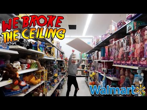 TRYING TO GET KICKED OUT OF WALMART (SHE WAS PISSED)