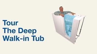 Deep Walk in Tub for Luxurious Bathing -  Bliss Tubs