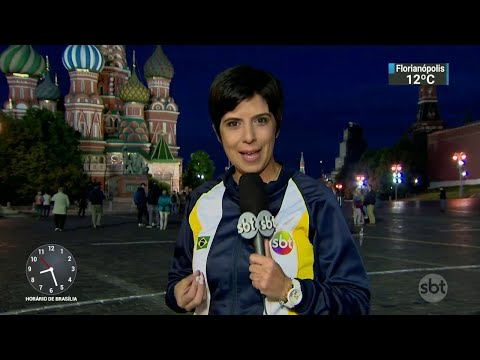 SBT desembarca na Rússia para cobertura completa do Mundial | SBT Brasil (08/06/18)