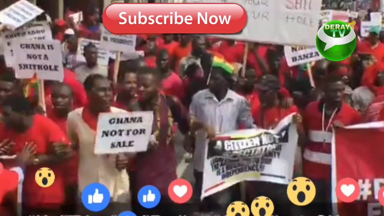 Ndc Other Parties Demonstrate Against Ghana Us Military Base
