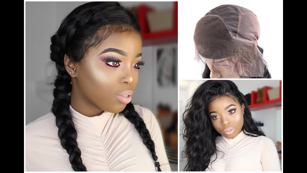 HOW TO  SEW IN A 360 LACE BAND FRONTAL AND MAKE A WIG ( ALIEXPRESS HOT  BEAUTY HAIR) - YouTube 0185adc47