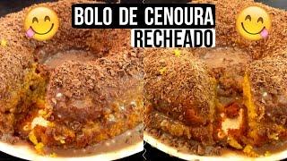 BOLO DE CENOURA RECHEADO ♥ | Casando aos dezoito