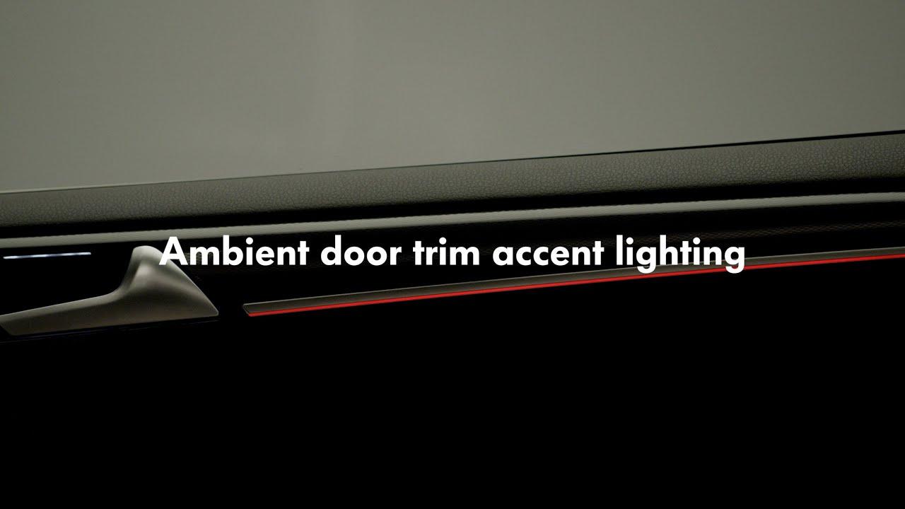 2015 volkswagen golf gti ambient door trim accent lighting accent ambient lighting